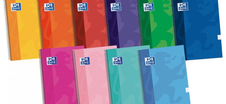 cuadernos oxford colores