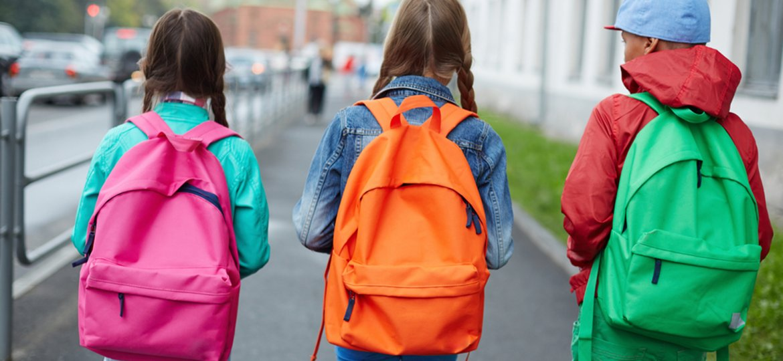 Kids in backpacks